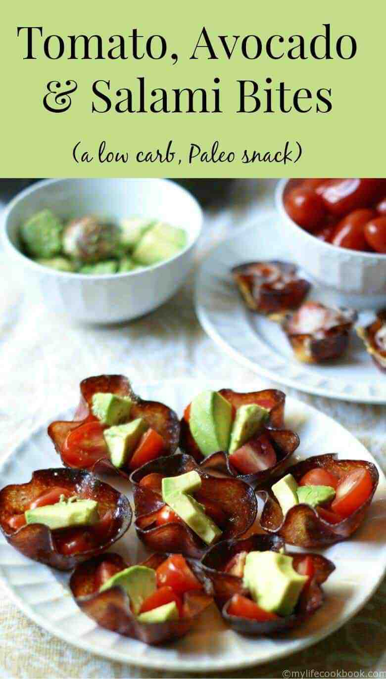 Tomato, Avocado, and Salami Bites