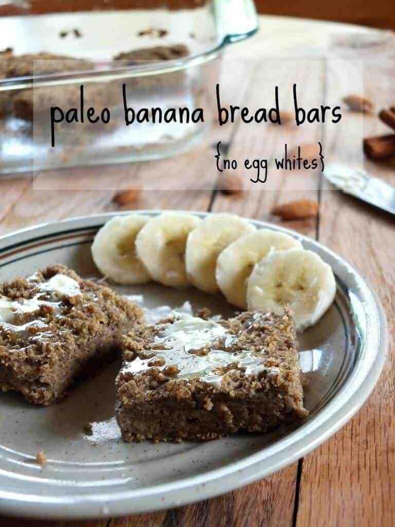 Paleo Banana Bread Bars