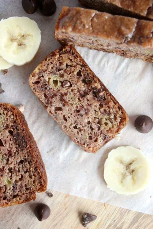Maple Vanilla Choc Chip Banana Bread