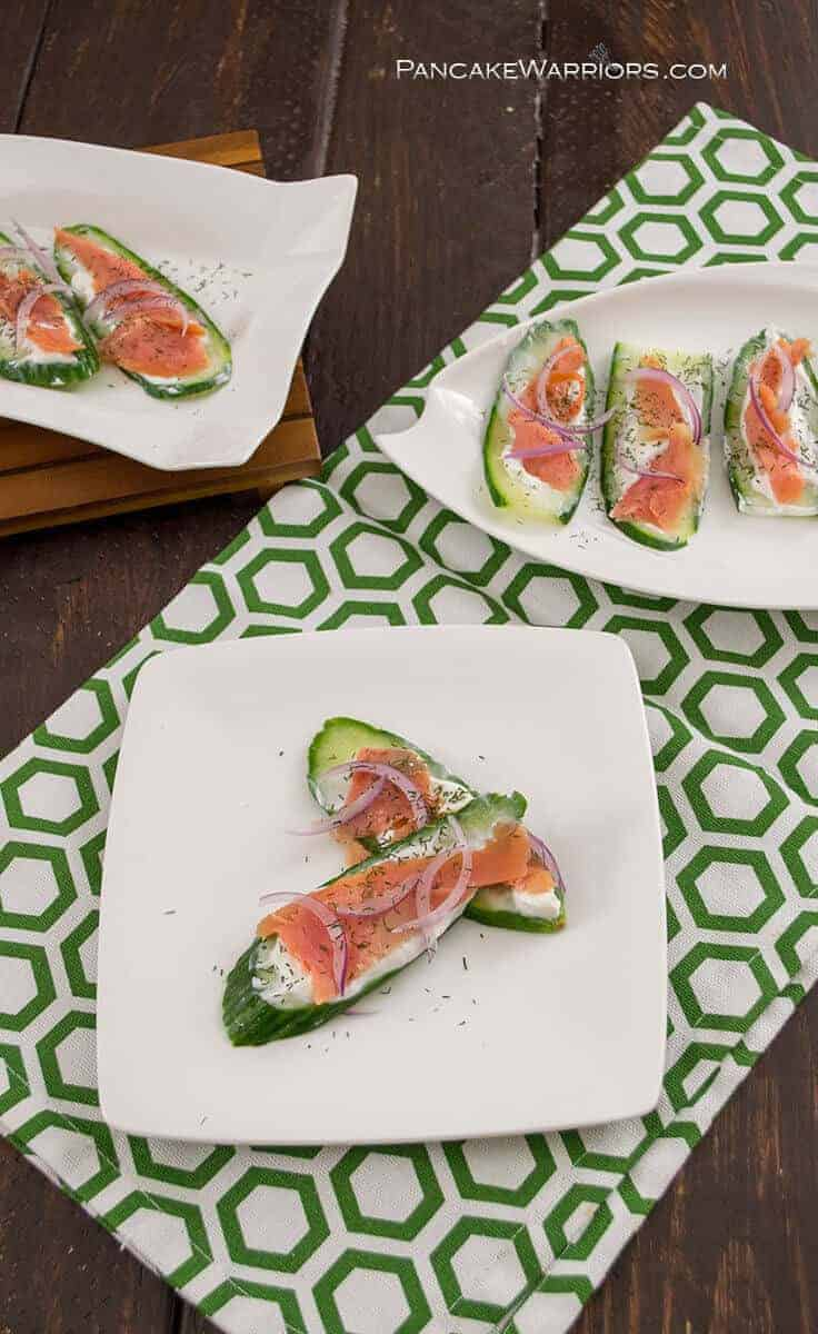 Smoked Salmon and Cucumber Bites