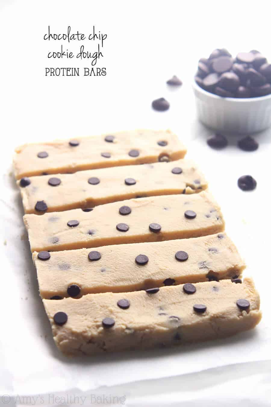 Paleo Chocolate Chip Cookie Dough Protein Bars