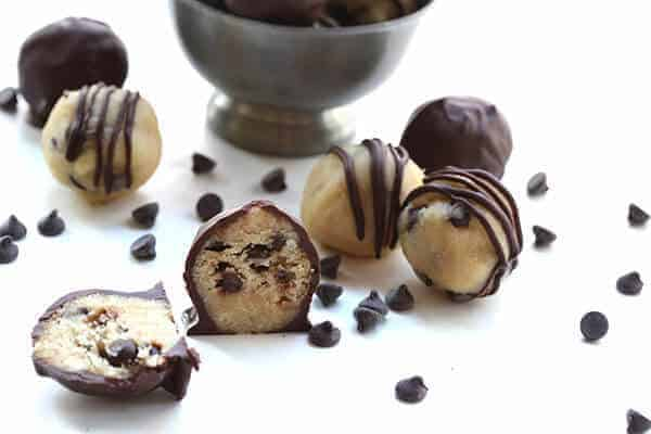 Low Carb Chocolate Chip Cookie Dough Bites