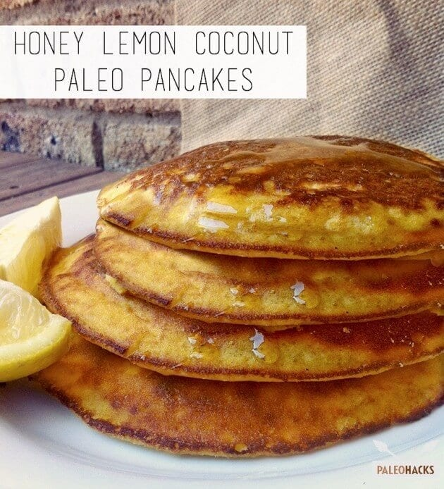 Honey Lemon Coconut Paleo Pancakes