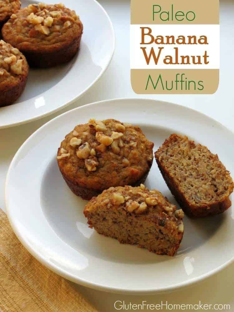 Banana Walnut Coconut Flour Muffins
