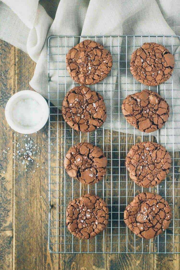 Chewy Brownie Crinkle Cookies
