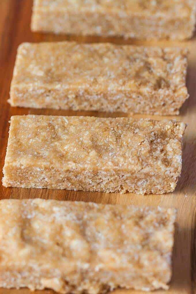 No Bake Cashew Coconut Protein Bars