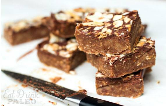 No Bake Paleo Caramel Chocolate Slice