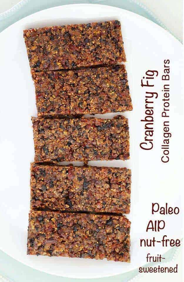 Cranberry Fig Collagen Protein Bars