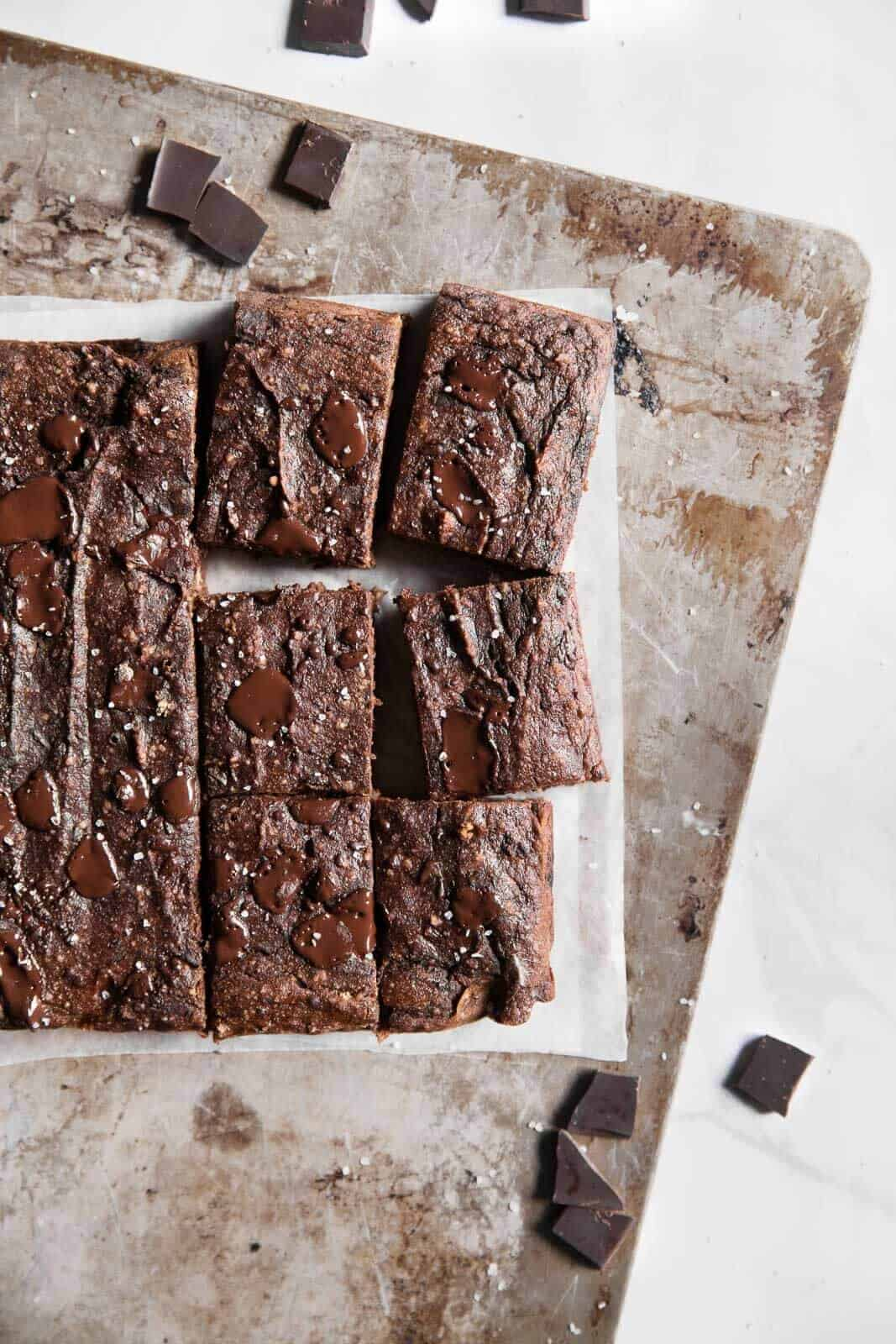 Double Chocolate Paleo Banana Bread Bars