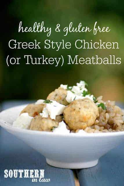 Healthy Greek Style Chicken (Or Turkey) Baked Meatballs