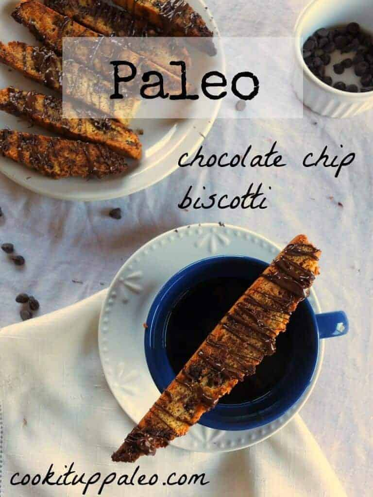 Chocolate Chip Paleo Biscotti