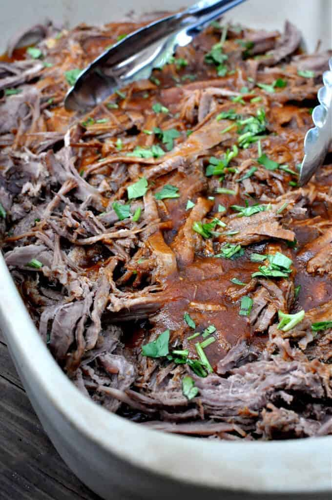 Paleo Crock Pot BBQ Pulled Beef
