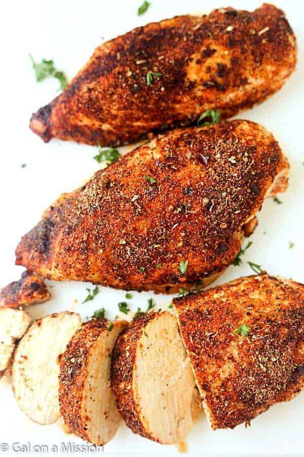 Baked Cajun Chicken Breasts