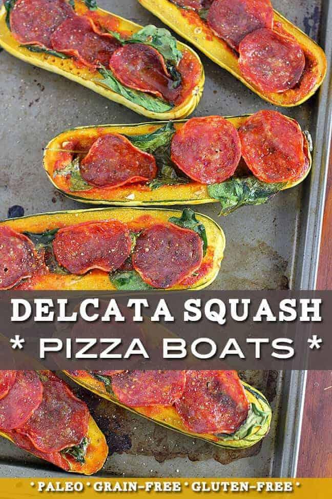 Delicata Squash Pizza Boats