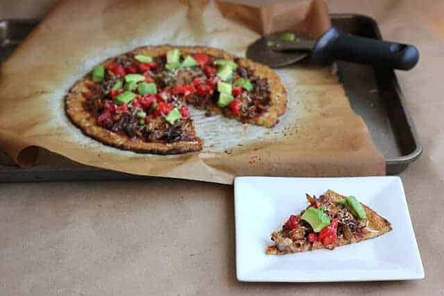 The Best Dairy Free Cauliflower Pizza Crust