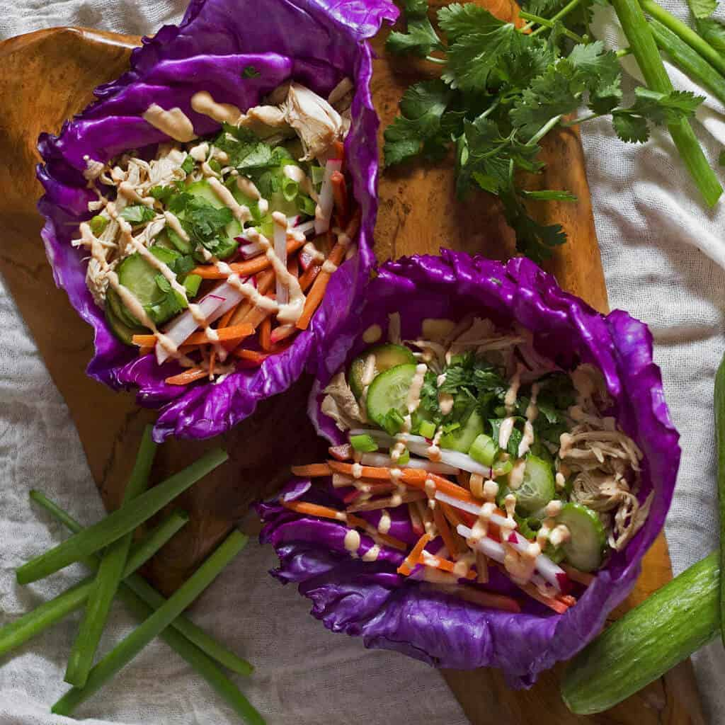 Paleo Banh Mi Chicken Tacos (Slow Cooker)
