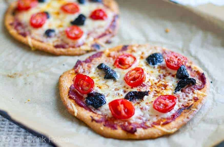 Mini Paleo Crust Pizzas (Nut Free)