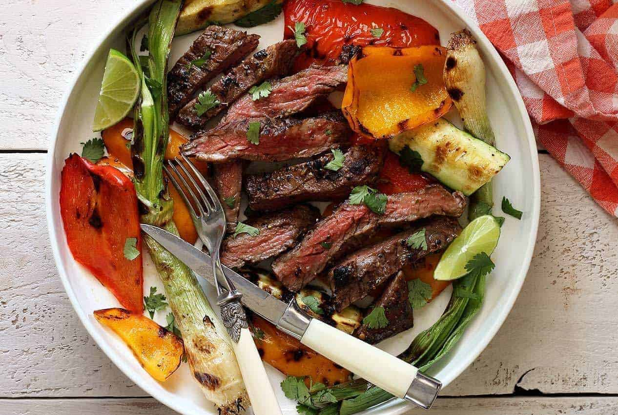 Garlic-Lime Skirt Steak & Veggies