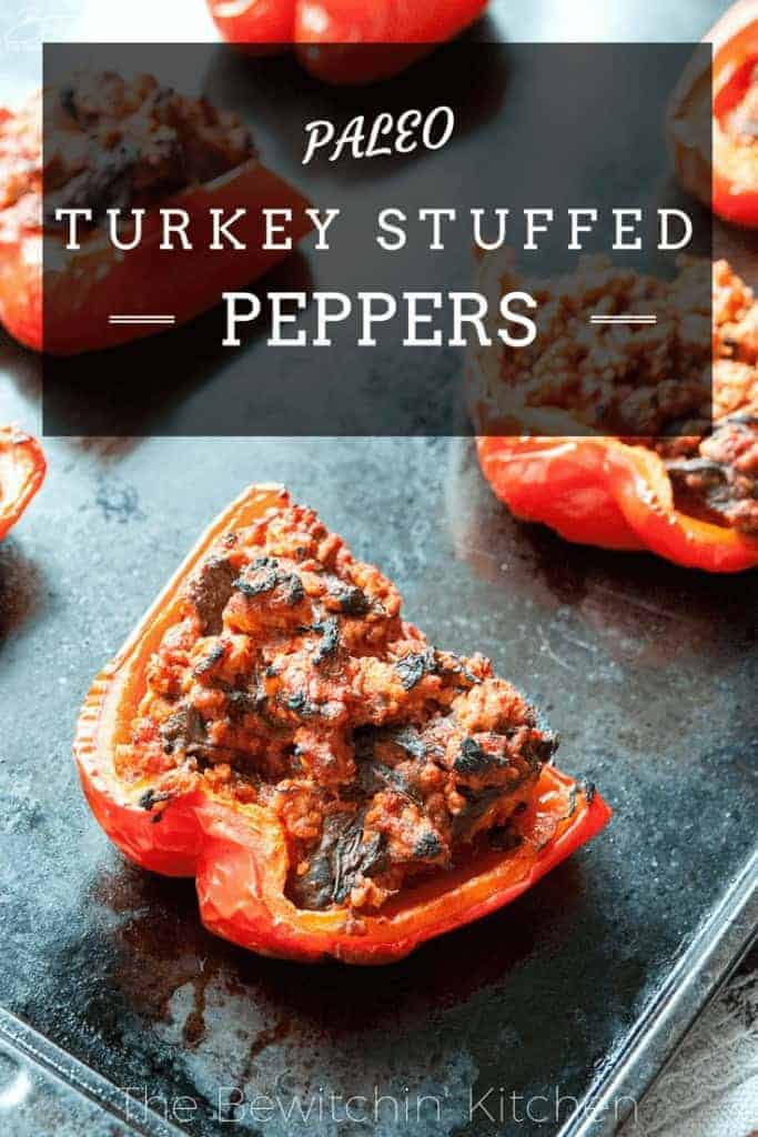 Paleo Turkey Stuffed Peppers
