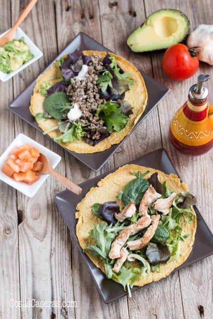 Low Carb Paleo Tortillas with Flaxseeds and Eggs