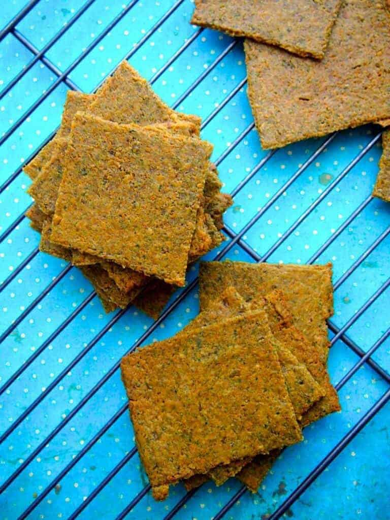 Homemade Vegetable Thins Crackers