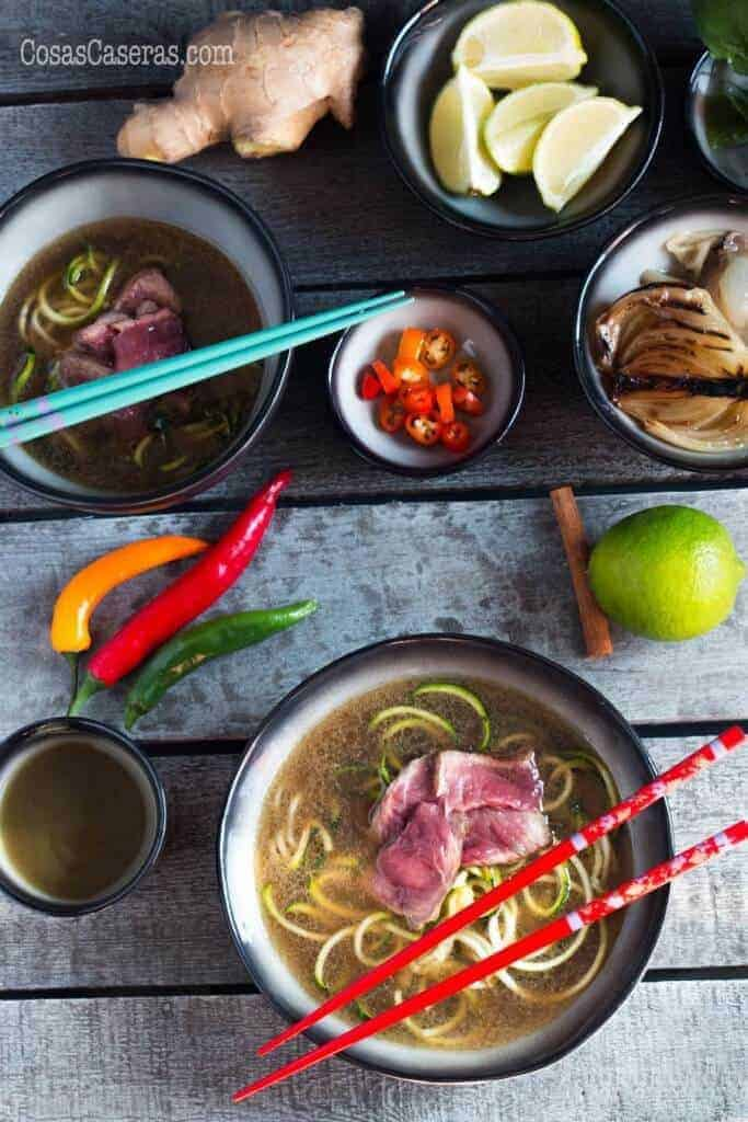 Paleo Pho (Vietnamese Soup with Zucchini Noodles)
