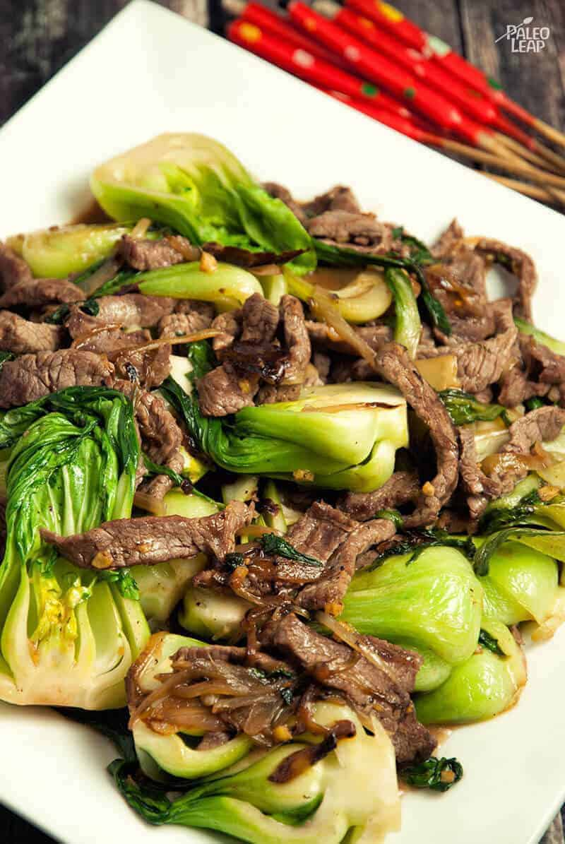 Spicy Beef Bok Choy