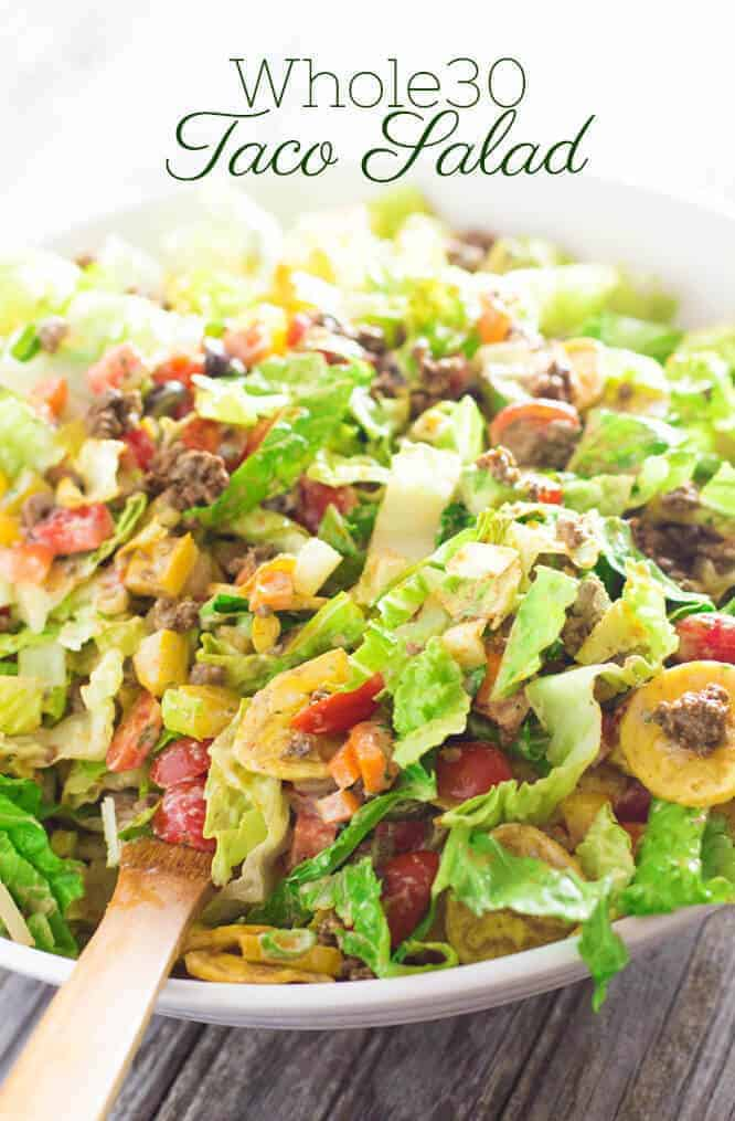 Taco Salad with Creamy Cilantro Dressing