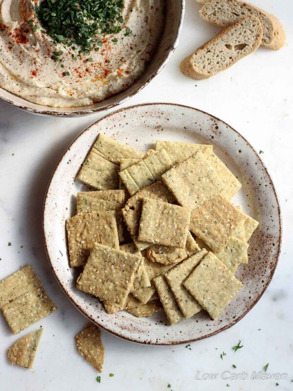 Crispy Almond Sesame Crackers