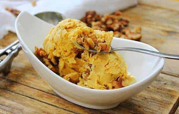 Pumpkin Walnut Laced Ice Cream