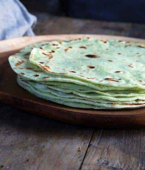 Gluten Free Zucchini Flour Tortillas