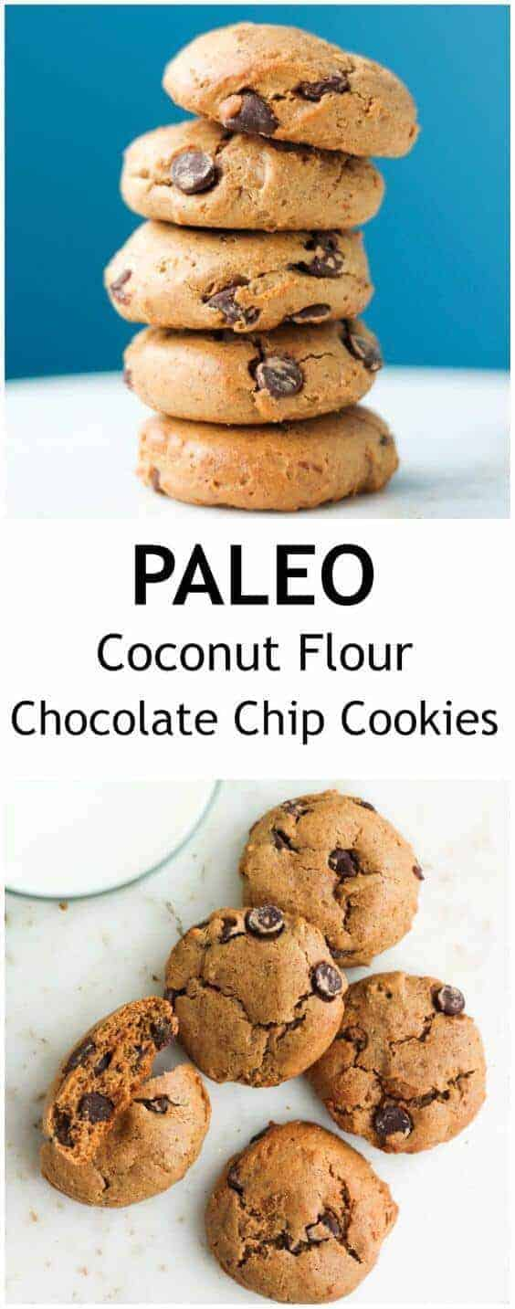 Paleo Coconut Flour Chocolate Chip Cookies