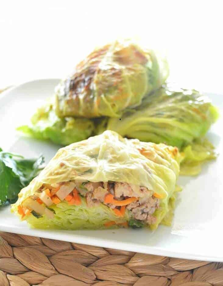 Asian-Style Cabbage Wraps