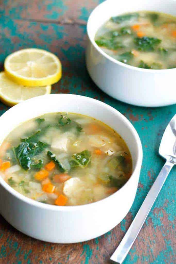 Clean Eating Lemon Chicken Quinoa Soup