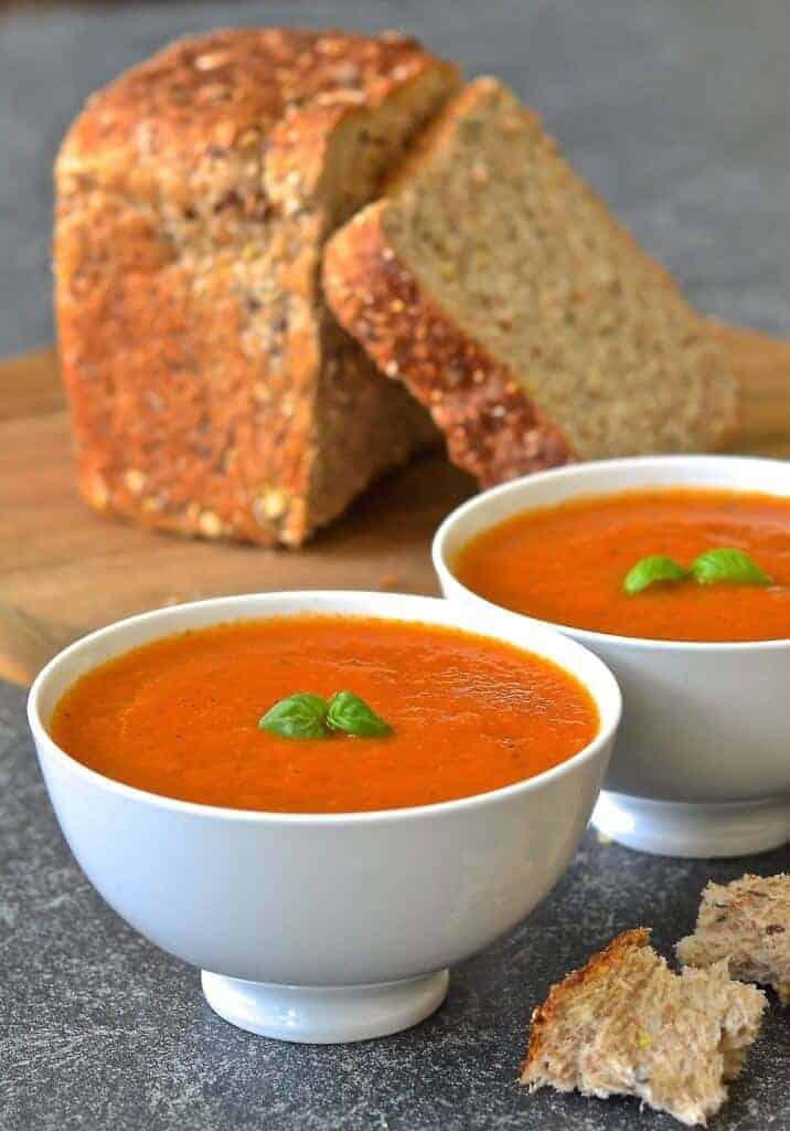 Easy Tomato & Basil Soup