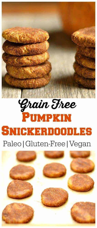 Grain-Free Paleo Pumpkin Snickerdoodles