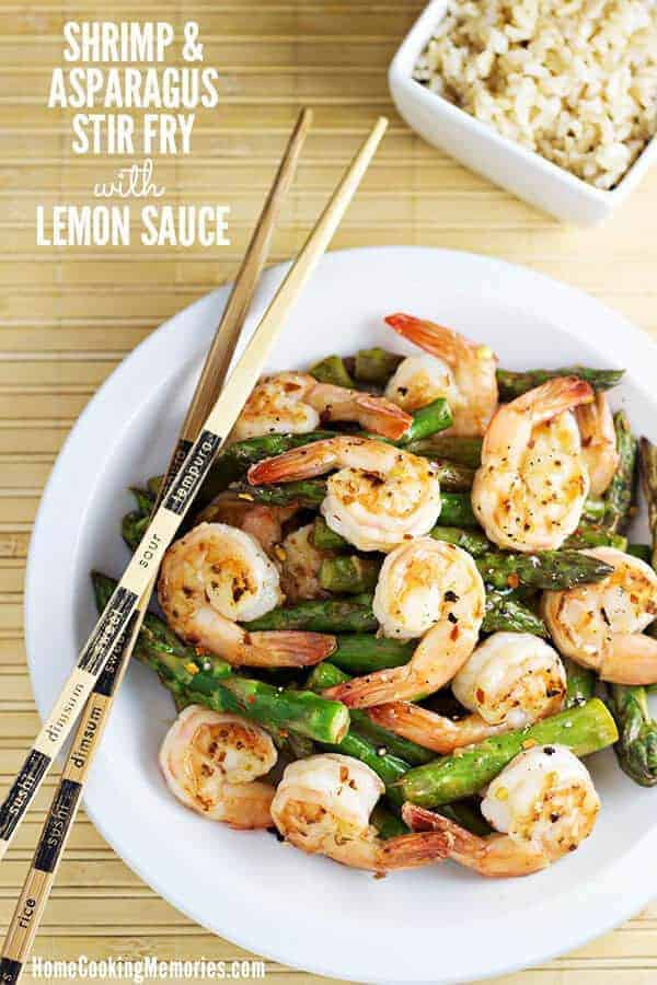 Shrimp Asparagus Stir Fry Lemon Sauce