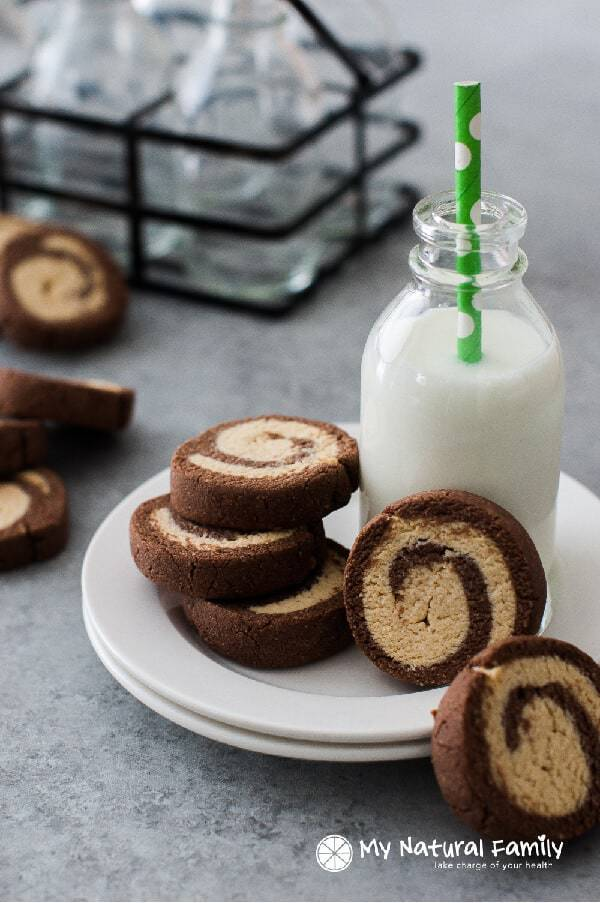Paleo Chocolate Peppermint Swirl Soft Sugar Cookies