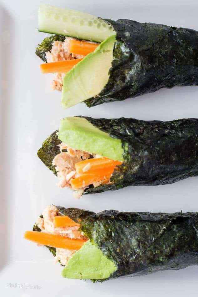 Paleo Tuna Salad Nori Wraps
