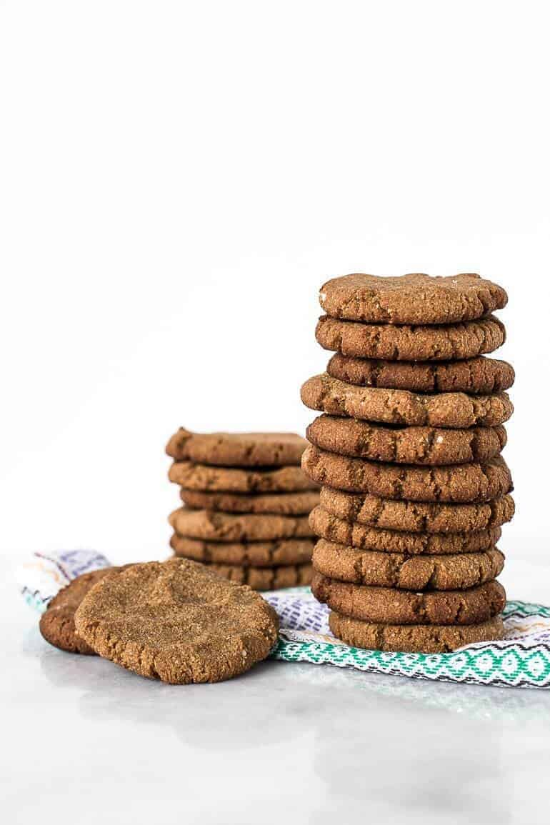 Soft and Chewy Paleo Ginger Snap Cookies