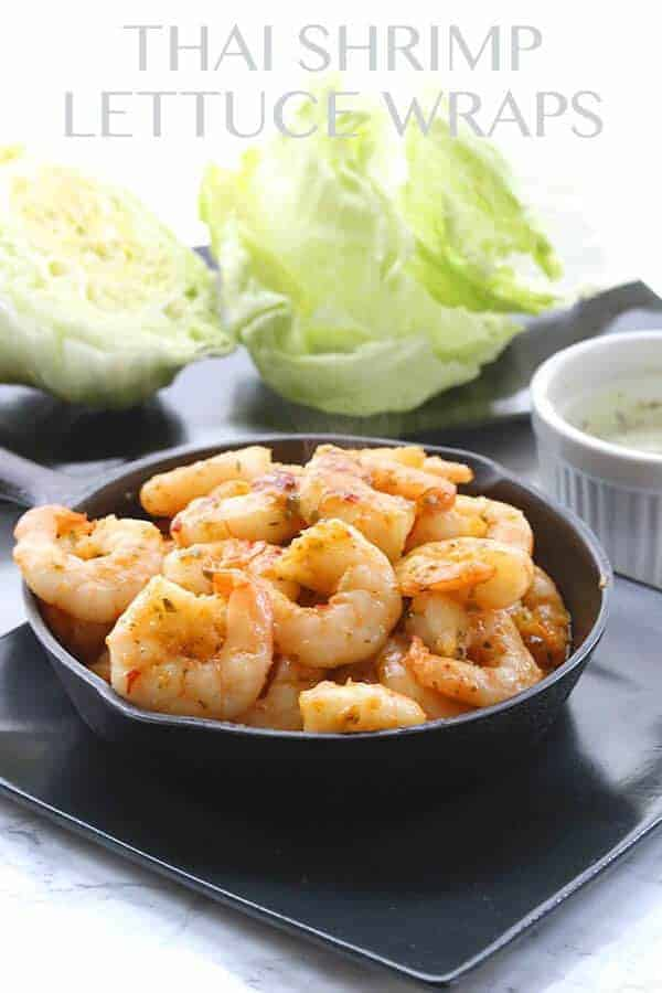 Thai Shrimp Lettuce Wraps