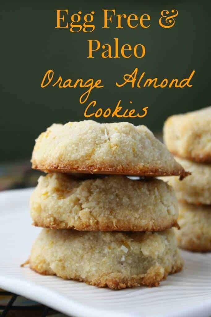 Grain Free Paleo Orange Almond Cookies