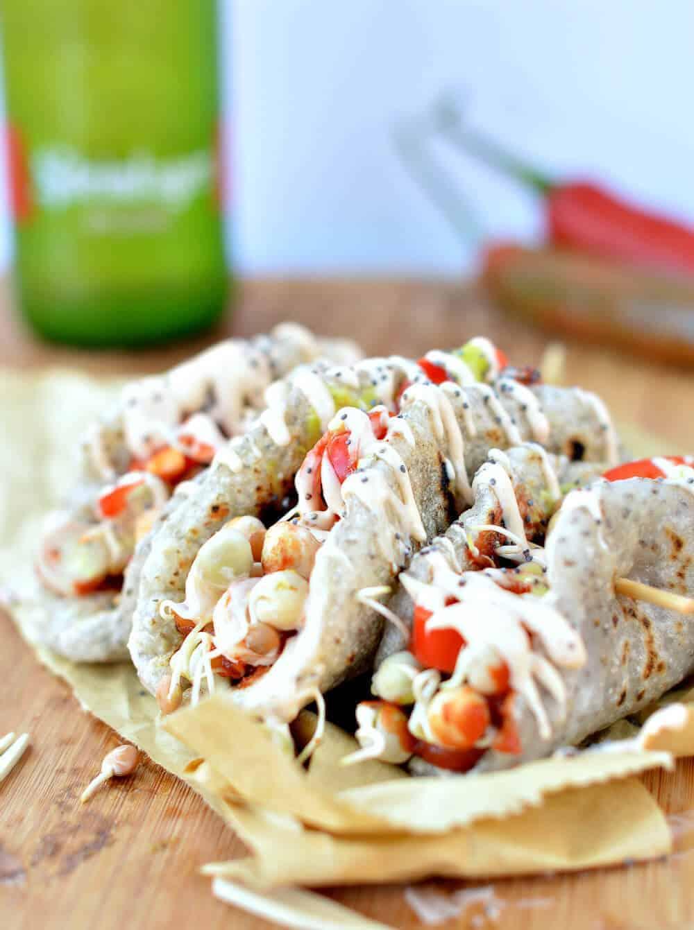 Paleo Tortillas with Chia Seeds (Vegan, Gluten Free)