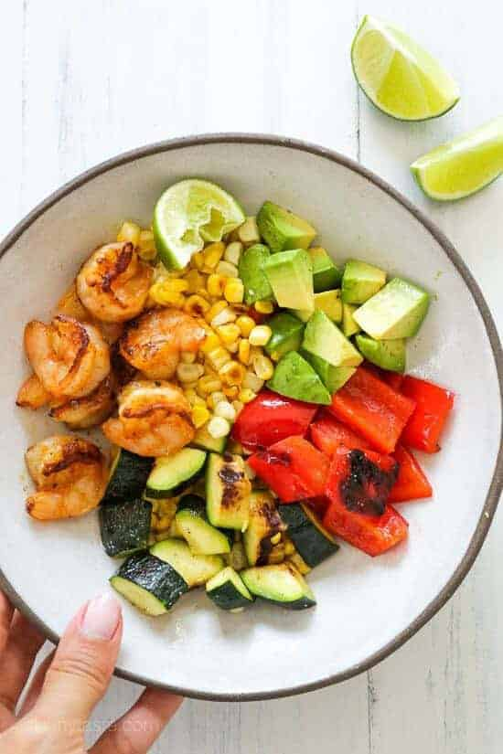 Grilled Shrimp and Vegetable Bowl