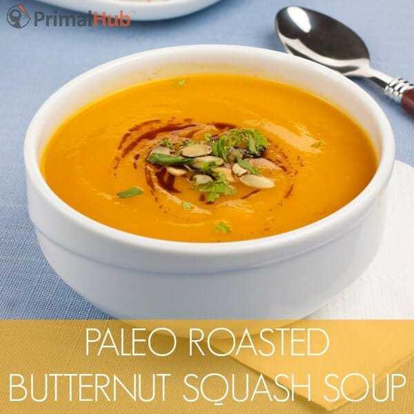 Paleo Roasted Butternut Squash Soup