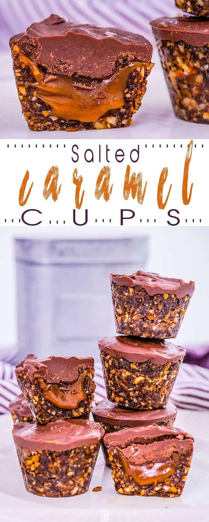 No-Bake Salted Caramel Cups