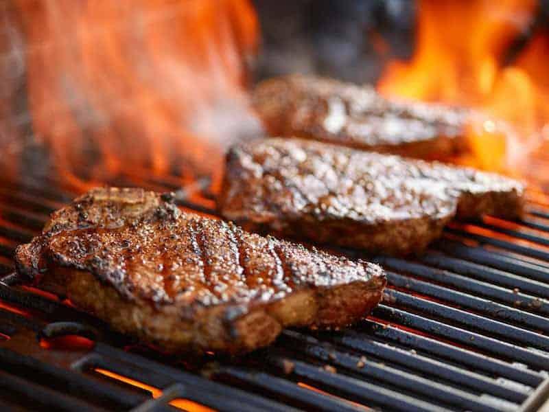 flame grilled organic steak beef